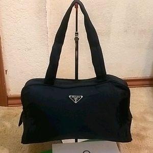 Prada Black Vela Shoulder Bag